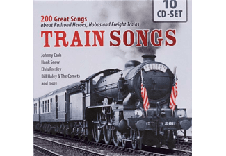 Various Train Songs - 200 Great Songs About Railroad Heroes - (CD)