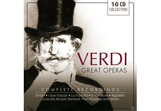 Various Specialty Artists, Various Orchestra - Verdi: Great Operas, Complete Recordings [CD]