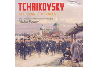 MOSCOW ACADEMY OF CHORAL SINGING,THE & POPOV,VICTOR - Tchaikovsky Weltliche Chöre - (CD)