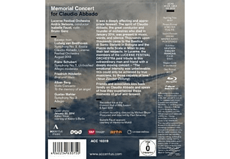 A./Lucerne Festival Orch./Faust/Ganz Nelson - Memorial Concert For Claudio Abbado - (Blu-ray)