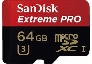 SANDISK MicroSD Extreme PRO 64 GB 95MB/s class 10 + adapter
