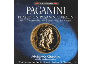 Quarta Plays Paganini's Violin - Violinkonzerte 3 und 5 - (CD)