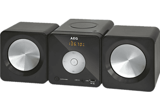 AEG. MC 4463, Musik-Center, 10 Watt, Schwarz