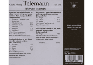 Georg Philipp Telemann - Telemann: Tafelmusik-Selection - (CD)