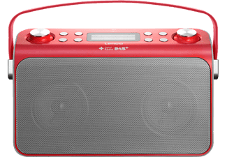 LENCO Lucille Retro-Radio rot, FM, DAB, DAB+, Red