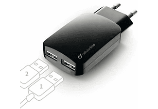 CELLULARLINE Chargeur double USB (ACHUSBMOBILEDUAL3A)