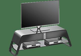 maja lowboard mit integriertem sound system 7762 metall alu schwarz hochglanz tv m bel g nstig. Black Bedroom Furniture Sets. Home Design Ideas