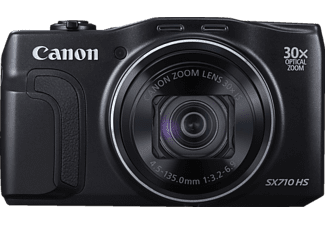 CANON PowerShot SX710 HS Kompaktkamera, 20.3 Megapixel, 30x opt. Zoom, Back Illuminated CMOS Sensor, Near Field Communication, WLAN, 25-750 mm Brennweite, Schwarz