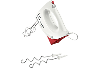 BOSCH MFQ 35RE, Handmixer, 350 Watt, Weiß/Rot