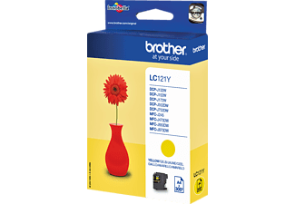 BROTHER Original Tintenpatrone Gelb (LC-121Y)
