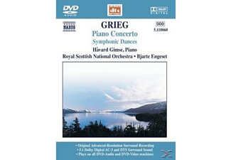 Havard Gimse, Bjarte Engeset, Royal Scottish National Orchestr - Grieg: Piano Concerto, Symphonic Dances - (DVD-Audio Album)