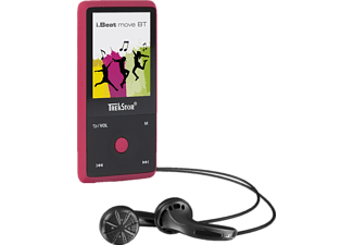 TREKSTOR 79424 i.Beat move BT, Audio Player, 8 GB, Akkulaufzeit: bis zu 24 Std., Rubin Rot