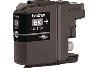 BROTHER Original Tintenpatrone Schwarz (LC-121BK)