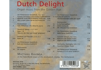 Matthias Havinga - Dutch Delight:Organ Music From The Golden Age [CD]