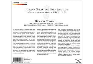 Ricercar Consort - Bach Musikalisches Opfer - (CD)