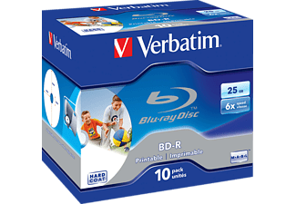 VERBATIM 43713 BD-R Single 6X 25GB, Rohling, 10er Jewelcase