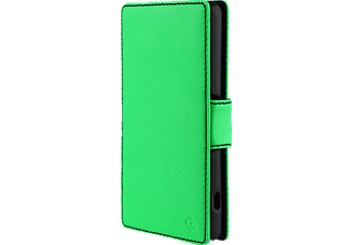 3340 Touch Cases Bookcover Sony Xperia Z3 Compact Polycarbonat/Polyurethan Grün/Schwarz
