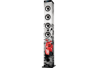 ICES IBT-5 Grau/Rot Speakertower