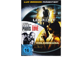 Luc Besson Action Box: Lockout,  Colombiana, From Paris With Love [DVD]