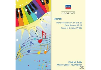 Friedrich Gulda, Anthony Collins, Paul Angerer - Klavierkonzert 14,17,25 & 26 Piano Sonata, - (CD)