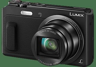 PANASONIC Lumix DMC-TZ58 Digitalkamera, 16 Megapixel, 20x opt. Zoom, Hochempfindlichkeits-MOS Sensor, WLAN, 24-480 mm Brennweite, Autofokus, Schwarz