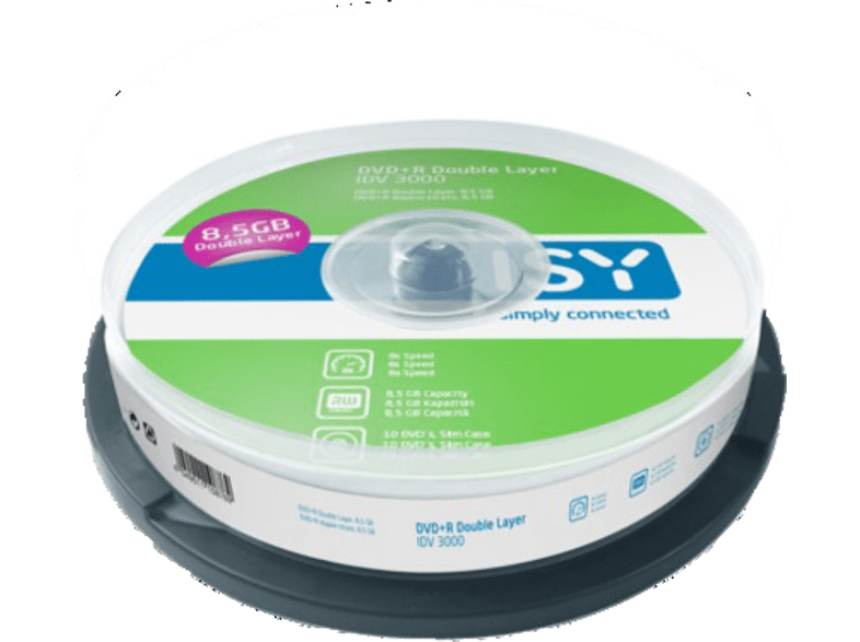 ISY DVD R Double Layer 8.5 GB (10 τεμ.) - IDV 3000 αξεσουάρ αποθήκευση δεδομένων cd   dvd   blu ray laptop  tablet  computing  αποθ