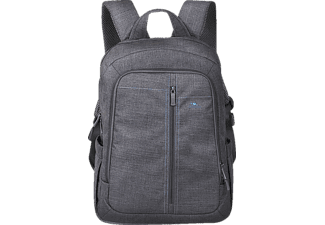 "RIVACASE 7560 Laptop Canvas Backpack 15.6"" Grey"
