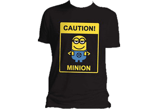 Minions Caution T-Shirt Größe L