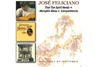 José Feliciano - That The Spirit Needs/Memphis Menu/Compartments - (CD)