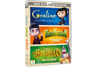 Coraline/Paranorman/The Boxtrolls Box Animation / Tecknat DVD