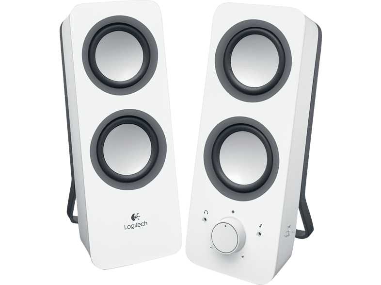 LOGITECH Multimedia Speakers Z200 White - (980-000811) laptop  tablet  computing  περιφερειακά ηχεία smartphones   smartliving smartpho