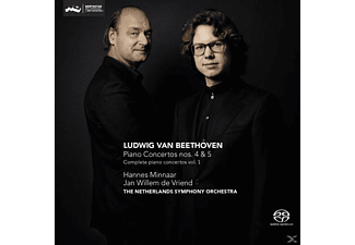 Minnaar, Hannes / de Vriend, Jan Willem / The Neth - Klavierkonzerte 4 & 5 - (SACD Hybrid)