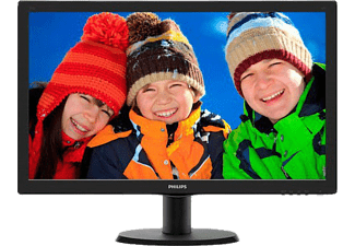 PHILIPS 243V5LSB 01 23.6 inç 5ms (Analog+DVI) Full HD LED Monitör Siyah