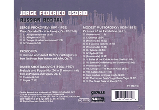 Jorge Federico Osorio, Various - Russian Recital - (CD)