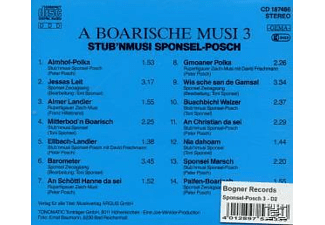Stub'nmusi Sponsel - A Boarische Musi 3 - (CD)