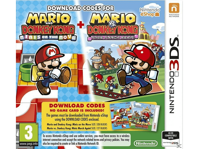 Mario and Donkey Kong Minis On The Move Nintendo 3DS gaming φορητές κονσόλες games 2ds  3ds