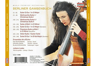 Juliane Laake;Ensemble Art D'echo - Berliner Gambenbuch [CD]