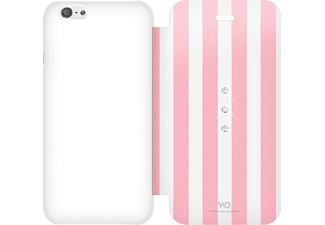 WHITE DIAMONDS Girly Bookcover Apple iPhone 6, iPhone 6s Kunststoff/Material-Mix/Polyurethan (PU) Stripes
