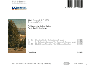 Philharmonie Baden-Baden - Orchestral Works By Adolf Jensen - (CD)