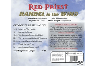 Red Priest, Piers Adam (Fl), Julia Bishop (Vl), An - Handel In The Wind - (CD)