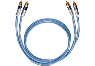 OEHLBACH XXL® Series 2 NF-Audio-Cinchkabel 2x0,7m, Audio-Cinchkabel, 750 mm, Blau