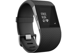 FITBIT Surge Small, Smart Watch, Elastomer/Edelstahl, S, Schwarz
