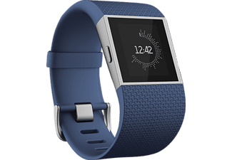 FITBIT Surge, Smart Watch, Elastomer/Edelstahl, S, Blau