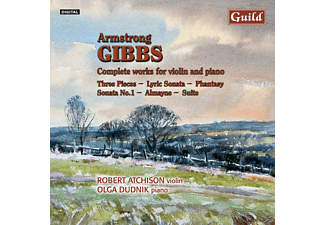 Robert Atchison, Olga Dudnik, Atchison,Robert/Dudnik,Olga - Gibbs Works For Violin+Piano - (CD)