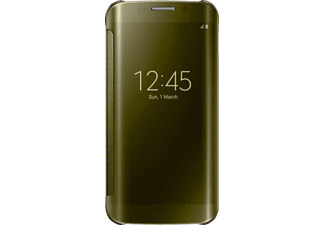 SAMSUNG Clear View Cover Galaxy S6 Edge - Guld