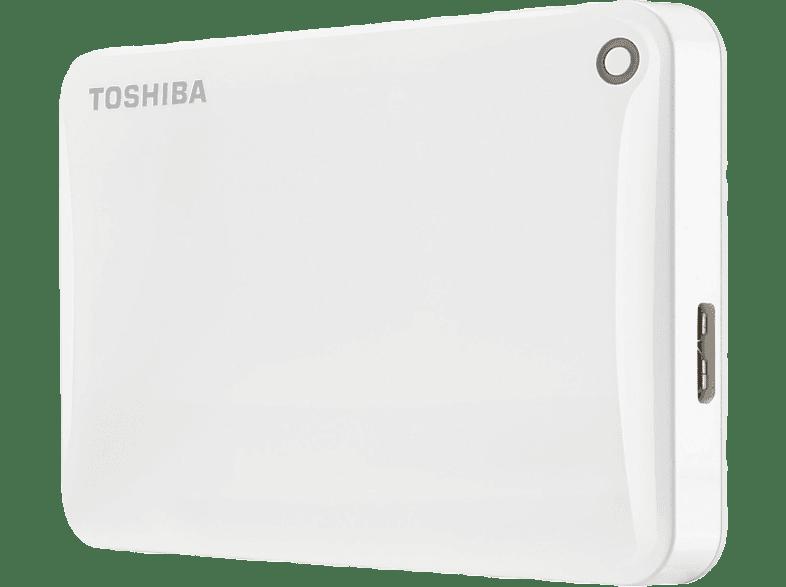 TOSHIBA Canvio Connect II 1ΤΒ USB 3.0 White - (HDTC810EW3AA) laptop  tablet  computing  αποθήκευση δεδομένων δίσκοι εξωτερικοί 2 5