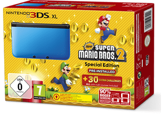 NINTENDO 3DS XL Blauw New Super Mario Bros. 2 Pack
