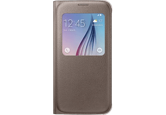 SAMSUNG S-view Cover Galaxy S6 PU Leather Gold - (EF-CG920PFEGWW)