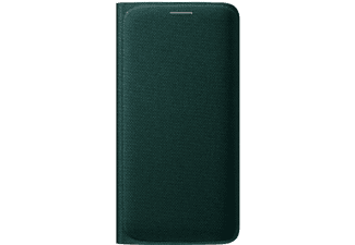 SAMSUNG Flip Wallet Galaxy S6 Edge Fabric Green - (EF-WG925BGEGWW)