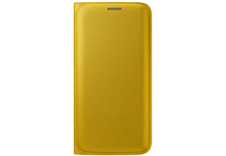 SAMSUNG Flip Wallet Galaxy S6 Edge PU Leather Yellow - (EF-WG925PYEGWW)